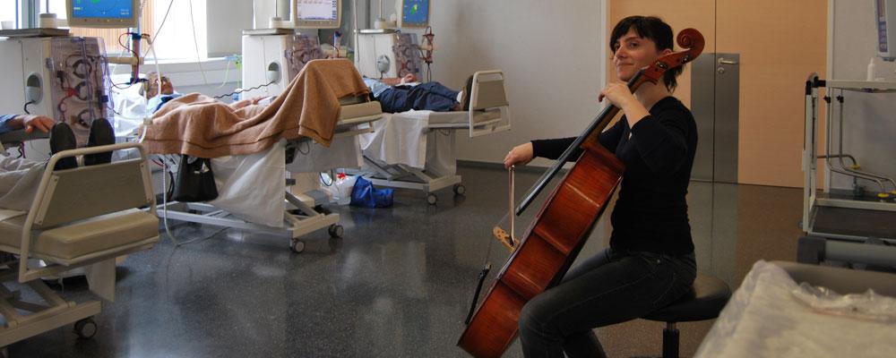 Musicoterapia en el Hospital de Denia