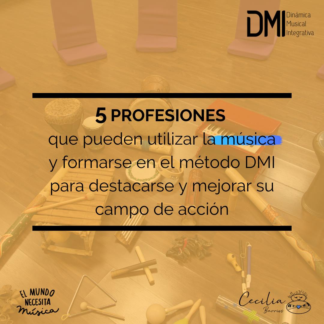 5 profesiones que pueden usar la música y entrenarse en el DMI
