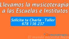Charlas - taller de musicoterapia en las escuelas.