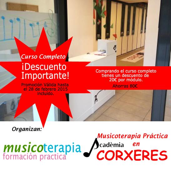 Cursos prácticos de musicoterapia en Barcelona.
