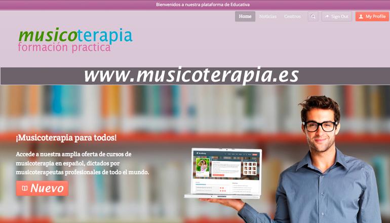 Formaciones en musicoterapia en España.