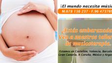 Ofrecemos talleres y sesiones de musicoterapia para embarazadas.